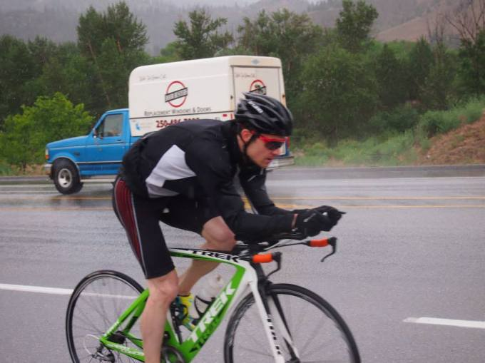 Race Pace Effort on Rainy Ride