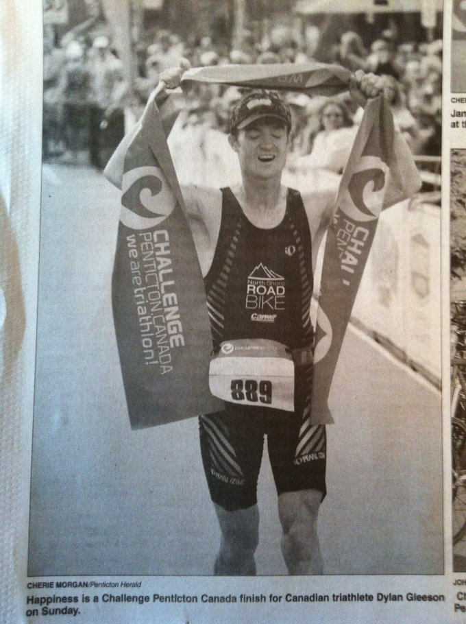 Was cool to get a little press after the race.  This picture sums up pretty well the feeling of finishing.