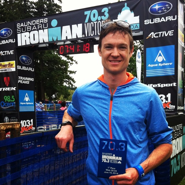 Ironman 70.3 Victoria Finish