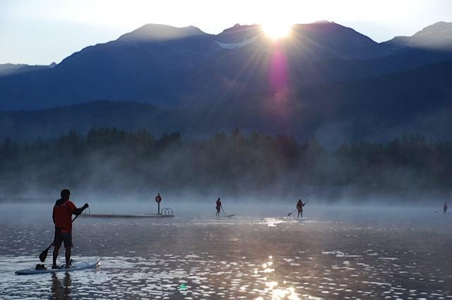 The calm before the storm.  Alta Lake is a seriously stunning setting to start the race.