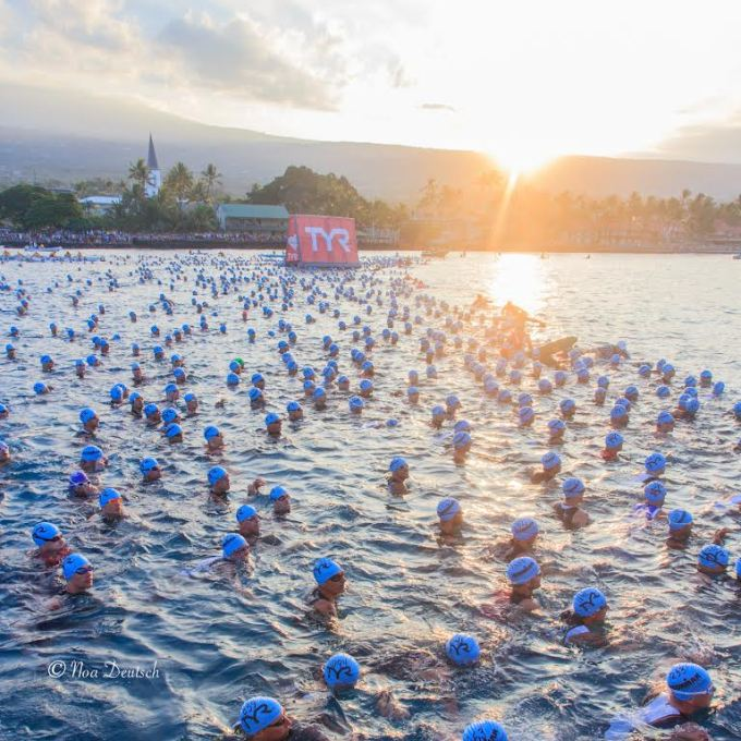 These really is something unique about the swim start in Kona.