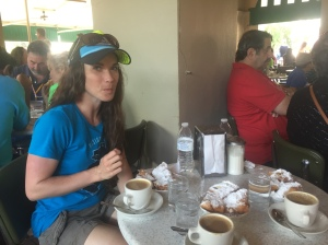 Jenna couldn't even wait for me to take the photo, she had to try one of the Beignets from Café du Monde!
