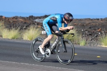 In action at the 2017 Ironman World Championships
